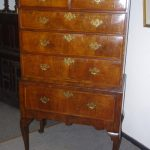 early period oak chest on stand