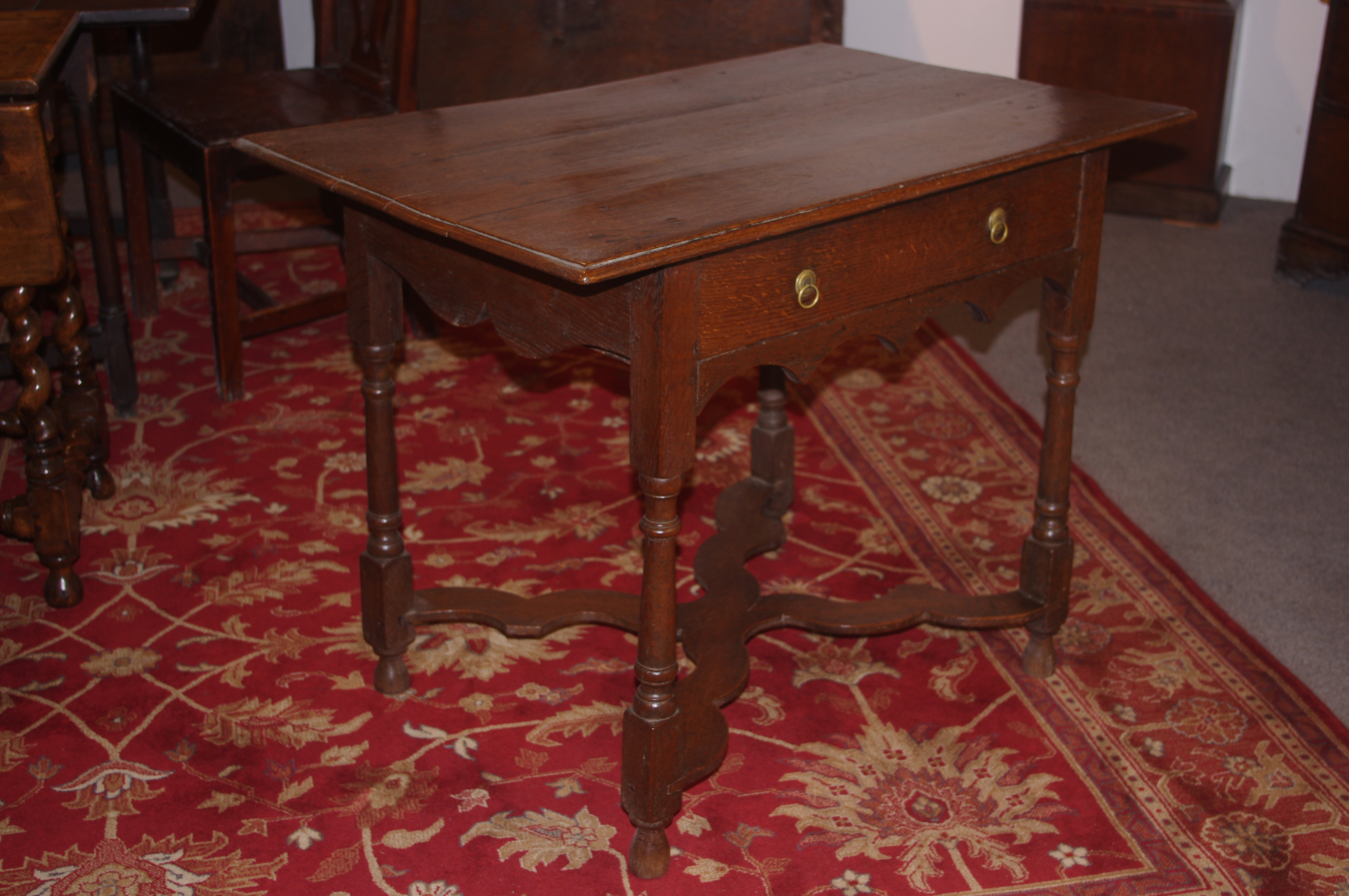 18th century oak side table side centre wine tables
