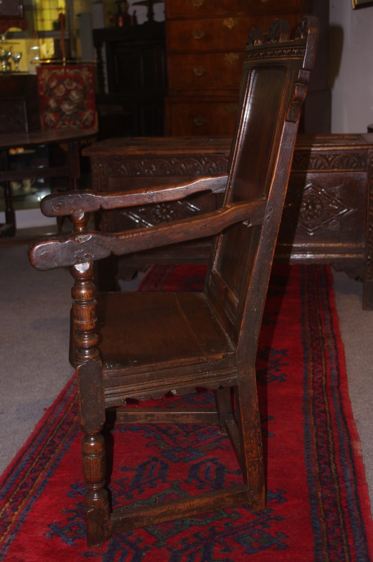 chairs stools and settles & benches 17th century oak armchair